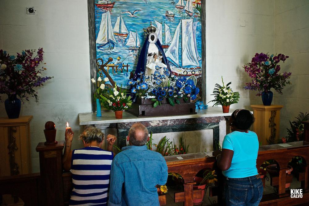 Igleasia de Nuestra Señora de Regla from 1687, which draws adherents of Catholicism and Santeria