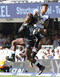 Durban. 100318.  S'busiso Nkosi of the Cell C Sharks during the Super Rugby match between Cell C Sharks and Kotaro Matsushima of  Sunwolves at Jonsson Kings Park Stadium on March 10, 2018 in Durban, South Africa. Picture Leon Lestrade/African News Agency/ ANA