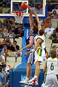 ATENE,  27 AGOSTO 2004<br /> OLIMPIADI ATENE 2004<br /> BASKET, SEMIFINALE<br /> ITALIA - LITUANIA<br /> NELLA FOTO: DENIS MARCONATO<br /> FOTO CIAMILLO