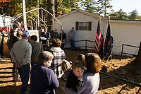 Langley Cemetery dedication ceremony.  Karen Bobotas for the Laconia Daily Sun