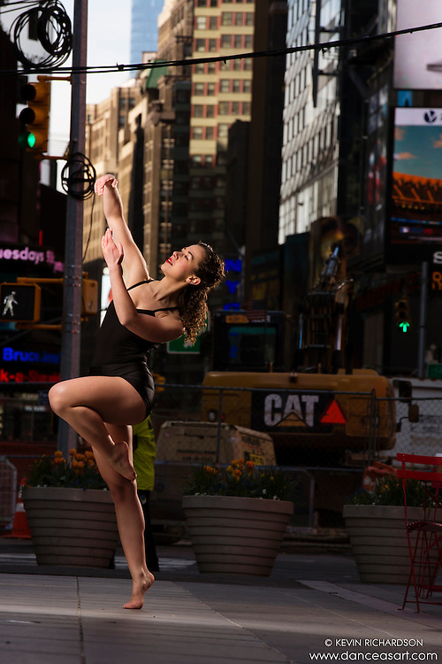 Dance As Art Times Square New York City Dance Photography with dancer Maja Bakija