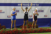 Poznan, POLAND.  2006, FISA, Rowing World Cup, GBR LM 1X Tim MALE, on  the awards  doc winning the gold  medal at the   'Malta Regatta course;  Poznan POLAND, Fri. 16.06.2006. © Peter Spurrier   ....[Mandatory Credit Peter Spurrier/ Intersport Images] Rowing Course:Malta Rowing Course, Poznan, POLAND