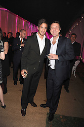 Left to right, DANNY CIPRIANI and PHIL TUFNELL at the End of Summer Ball in support of The Prince's Trust in Berkeley Square, London on 25th September 2008.
