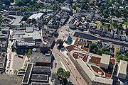 Nederland, Drenthe, Assen, 27-08-2013;<br /> Centrum Assen met winkelstraten en de Vaart ZZ (rechts) en de Jozefkerk midden boven.<br /> Center of the village of Assen with shopping streets  and head of Vaart ZZ (canal). <br /> luchtfoto (toeslag op standaard tarieven);<br /> aerial photo (additional fee required);<br /> copyright foto/photo Siebe Swart.