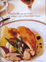 Poulard de Bresse with Bolete mushrooms, Restaurant l'Ambroisie, Paris - Chef Bernard Pacaud - as seen in the German magazine, der Feinschmecker (the Gourmand)