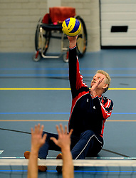08-01-2011 VOLLEYBAL: ED ROOSEN ZITVOLLEYBALTOERNOOI 2011: LEERSUM<br /> Voller volleyball club organizes for the ninth consecutive time the Ed Roosen sitting volleyball tournament / Apollo Mill vs FDS<br /> ©2011-WWW.FOTOHOOGENDOORN.NL