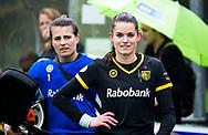 BILTHOVEN  - Hockey -  1e wedstrijd Play Offs dames. SCHC-Den Bosch (0-1). Lidewij Welten (Den Bosch) met links Josine Koning (Den Bosch)    COPYRIGHT KOEN SUYK