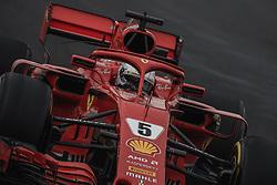 March 1, 2018 - Barcelona, Catalonia, Spain - SEBASTIAN VETTEL (GER) drives in his Ferrari SF-71H during day four of Formula One testing at Circuit de Catalunya (Credit Image: © Matthias Oesterle via ZUMA Wire)