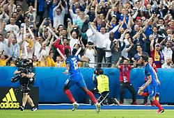 10.06.2016, Stade de France, St. Denis, FRA, UEFA Euro, Frankreich, Frankreich vs Rumaenien, Gruppe A, im Bild Frankreich Jubelt nach dem 1:0 durch Olivier Giroud (FRA) // Goal celebration after 1:0 of Olivier Giroud (FRA) during Group A match between France and Romania of the UEFA EURO 2016 France at the Stade de France in St. Denis, France on 2016/06/10. EXPA Pictures © 2016, PhotoCredit: EXPA/ JFK
