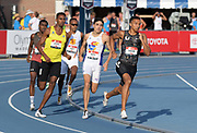 Jul 26, 2019; Des Moines, IA, USA; Donavan Brazier win 800m semifinal in 1:47.27 during the USATF Championships at Drake Stadium.