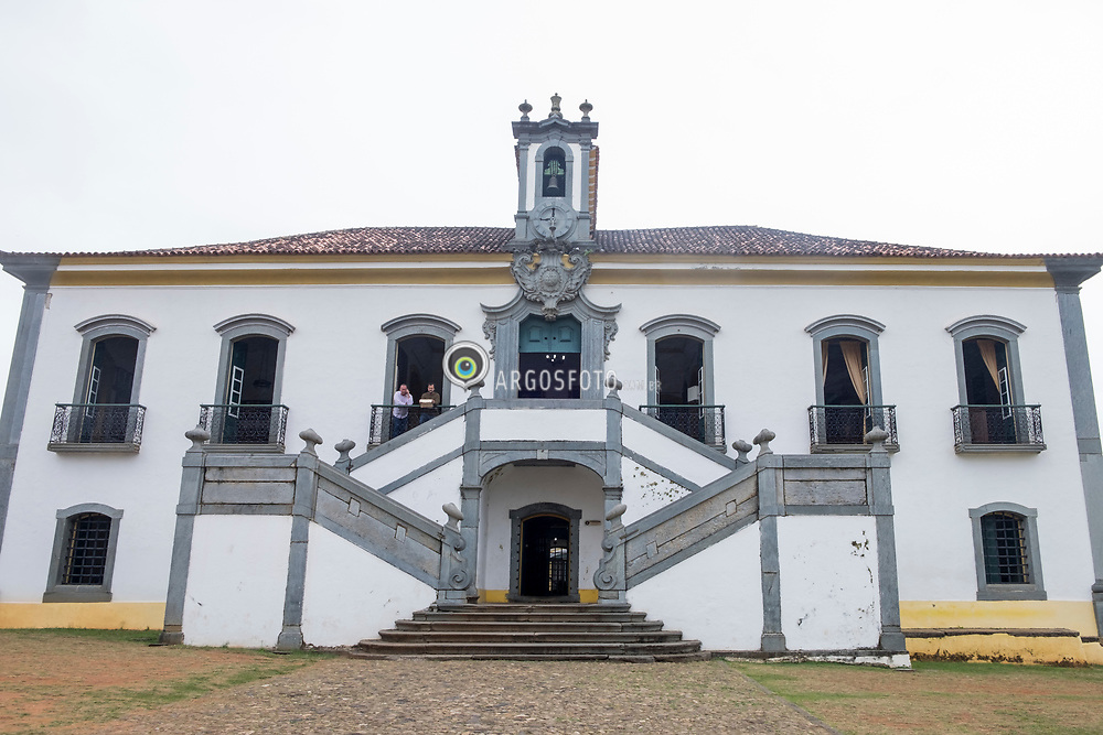 Camara Municipal de Mariana, na Praca Minas Gerais. Fundada em 1711, a Camara de Mariana eh a mais antiga de Minas Gerais. O projeto de construcao Casa de Camara e Cadeia de Mariana eh de 176, autoria de Jose Pereira dos Santos. = Mariana City Hall (Camara de Mariana) , in Minas Gerais Square. Founded in 1711, is the oldest in Minas Gerais. Mariana is the oldest city in the state of Minas Gerais, Brazil. It is a tourist city, founded on July 16, 1696, and retains the characteristics of a baroque city, with its churches, buildings and museums.
