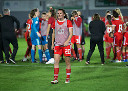 NEWPORT, WALES - Thursday, August 30, 2018: Wales' Helen Ward after the FIFA Women's World Cup 2019 Qualifying Round Group 1 match between Wales and England at Rodney Parade. (Pic by Laura Malkin/Propaganda)