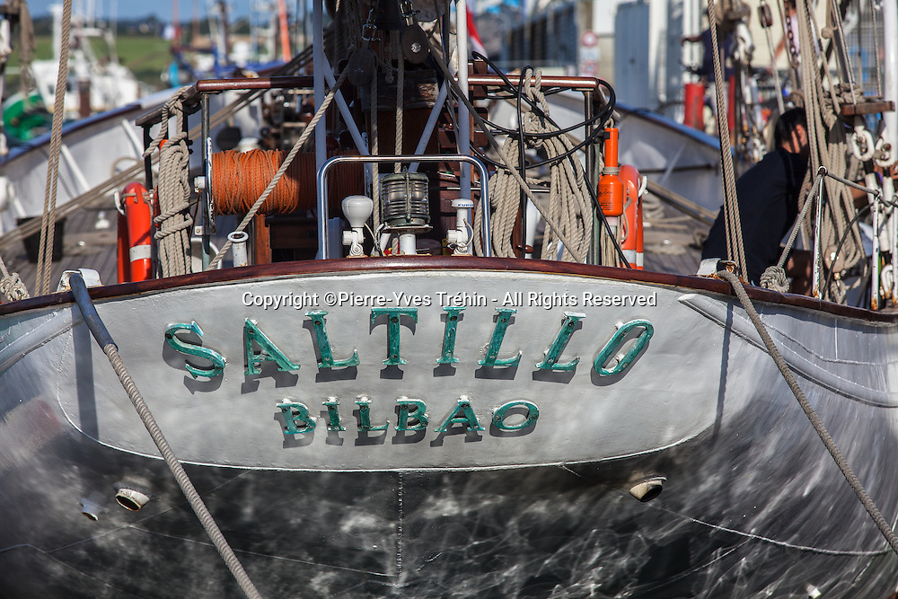 Saltillo, the former yacht of the Spanish crown, currently training ship Cadet Shipping Bilbao, stopped in Douarnenez (France)
