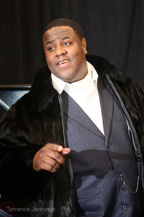"7 January-NY, NY - Jamal Woolard at The Notorious premiere held at AMC Lincoln Square on January 7, 2009 in New York City. Photo Credit: Terrence Jennings/Sipa Press..Notorious charts the remarkable rise of Christopher "" The Notorious B.i.G ""-who in just a few short years, shot from the tough streets of Brooklyn to the heights of hip-hop legend."