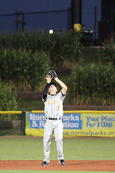 24 July 2015: Seth Heck during a Frontier League Baseball game between the Gateway Grizzlies and the Normal CornBelters at Corn Crib Stadium on the campus of Heartland Community College in Normal Illinois
