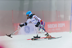 MEDVEDEVA Inga competing in the Alpine Skiing Super Combined Slalom at the 2014 Sochi Winter Paralympic Games, Russia