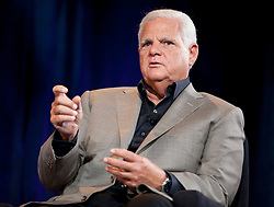 EMC CEO Joe Tucci participates in a CEO roundtable discussion at the annual VMworld conference in San Francisco, California.