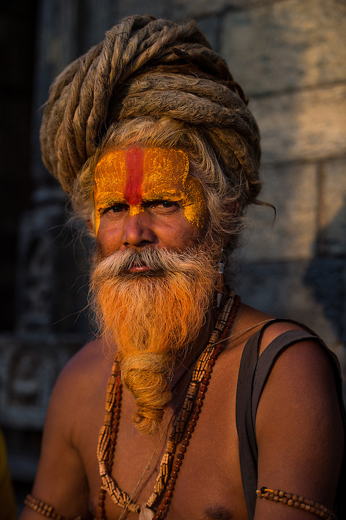 A hindu monk at Pashupathinath Temple, Nepal<br /> <br /> Nikon D4s | Nikkor 70-200 | f2.8 | 1/1600s | ISO250