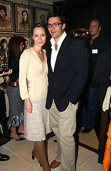 BROOKE JOHNSTON and ANDREW WESSELS at a party to celebrate the launch of the Katharine Pooley interiors store, 160 Walton Street, London SW3 on 20th October 2004.<br /><br /><br /><br /><br /><br />NON EXCLUSIVE - WORLD RIGHTS