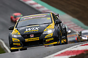 Jack Goff - WIX Racing with Eurotech - Honda Civic Type R wins the opening race of the new season during the Dunlop MSA British Touring Car Championship at Brands Hatch, Fawkham, United Kingdom on 8 April 2018. Picture by Aaron  Lupton.