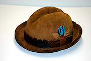 Hats Produced from dried mushroom fibre