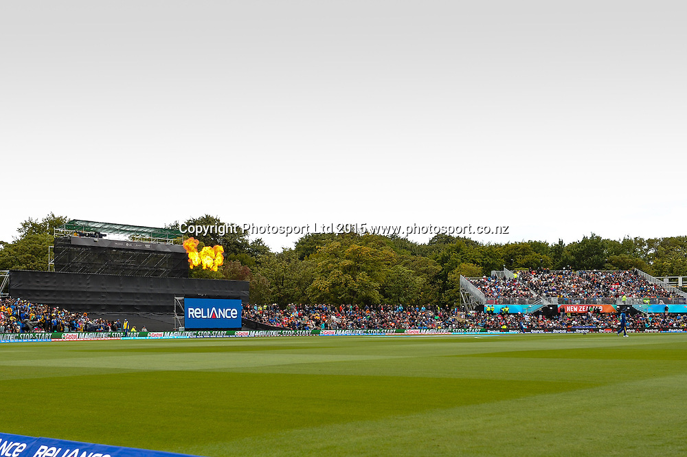 General View during the ICC Cricket World Cup match between New Zealand and Sri Lanka at Hagley Oval in Christchurch, New Zealand. Saturday 14 February 2015. Copyright Photo: John Davidson / www.Photosport.co.nz