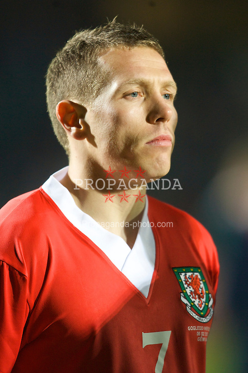 Belfast, Northern Ireland - Tuesday, February 6, 2007: Wales' captain Craig Bellamy lines-up to face Northern Ireland before the International Friendly match at Windsor Park. (Pic by David Rawcliffe/Propaganda)