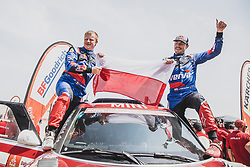 Jakub Przygonski (POL) of Orlen X-Raid Team at the finish line of the Rally Dakar 2019 in stage Pisco to Lima, Peru on January 17, 2019. // Flavien Duhamel/Red Bull Content Pool // AP-1Y5HCGC792111 // Usage for editorial use only // Please go to www.redbullcontentpool.com for further information. //