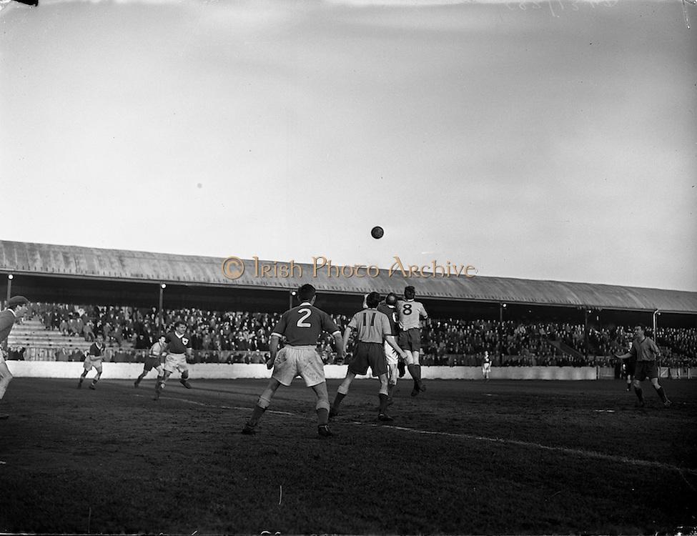 12/01/1952<br /> 01/12/1958<br /> 12 January 1958<br /> League of Ireland: Drumcondra  v Limerick at Tolka Park, Dublin.