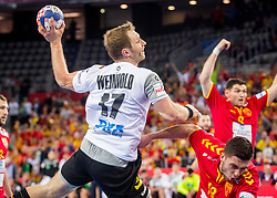 Steffen Weinhold of Germany during during handball match between National teams of Germany and Macedonia on Day 5 in Preliminary Round of Men's EHF EURO 2018, on January 17, 2018 in Arena Zagreb, Zagreb, Croatia. Photo by Ziga Zupan / Sportida