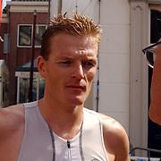 Kwart triathlon van Weesp 2004, winnaar Royce Kortekaas