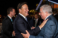 Presidents of Panama Juan Carlos Varela. The Summits of the Americas, Dinner for business leaders at the Biomuseo, Panama 2015