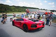 October 3-5, 2013. Lamborghini Super Trofeo - Virginia International Raceway. Lamborghini Aventador pace car.
