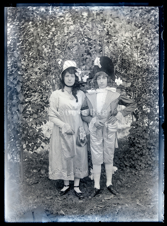 dressed up like Napoleon with wife portrait circa 1930s