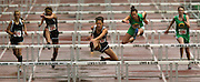 05/13/2009 - Madison's Monica Danciu (161) takes control of the race during the women's 100 meter hurdles. The 5A PIL Varsity District Track Meet takes place at Lewis and Clark College....KEYWORDS:  City, Portland, high school, girls, boys, run, field, sports