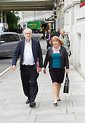 Jeremy Corbyn  Leader of the Labour Party speech - EU referendum is &lsquo;era-defining moment&rsquo; for workers&rsquo; rights<br /> 2nd June 2016 <br /> at the Kelvin Lecture Theatre, IET, Savoy Place, London. Great Britain <br /> <br /> Jeremy Corbyn arriving with Dame Glenis Willmott MEP <br /> <br /> Photograph by Elliott Franks <br /> Image licensed to Elliott Franks Photography Services