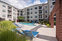 Exterior image of the Cosmopolitan at Lorton Station Apartments in Lorton Virginia by Jeffrey Sauers of Commercial Photographics, Architectural Photo Artistry in Washington DC, Virginia to Florida and PA to New England