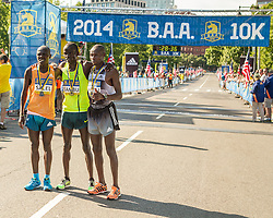 Boston Athletic Association 10K road race: top men Sambu, Salel and Mutai