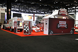 "08  February 2013: State Farm Insurance ""State Farm Garage"" display. Chicago Auto Show, Chicago Automobile Trade Association (CATA), McCormick Place, Chicago Illinois"