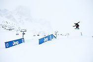 Sina Candrian during Slopestyle Practice at the 2013 X Games Tignes in Tignes, France. ©Brett Wilhelm/ESPN