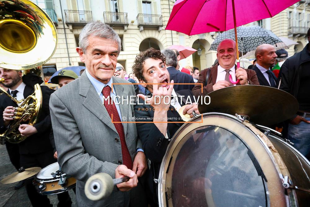 Sergio Chiamparino <br /> alla manifestazione chiusura della campagna elettorale, Torino 23 maggio 2014