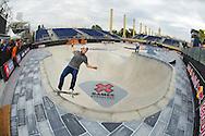 Rune Glifberg during Men's Skate Park Practice at the 2013 X Games Barcelona in Barcelona, Spain. ©Brett Wilhelm/ESPN