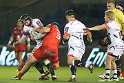 Maks van Dyk during the European Rugby Challenge Cup match between Sale Sharks and Toulouse at the AJ Bell Stadium, Eccles, United Kingdom on 13 October 2017. Photo by George Franks.