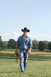 All American cowboy on a ranch