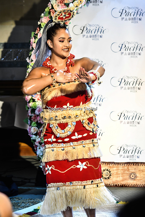 A Fiji dance at London Pacific Fashion Week at one Whitehall, London, UK. 25 Feb 2019.