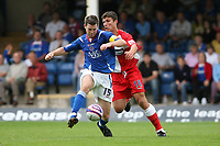 Photo: Pete Lorence.<br />Chesterfield Town v Wycombe Wanderers. Coca Cola League 2. 01/09/2007.<br />John Sutton attempts to get the ball from Aaron Downes.