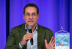 06.04.2019, Congresspark, Igls, AUT, 32. Ordentlicher Landesparteitag der FPÖ Tirol, im Bild Bundesparteiobmann VK Heinz-Christian Strache // during the 32th Ordinary party convention of the FPÖ Tyrol at the Congresspark in Igls, Austria on 2019/04/06. EXPA Pictures © 2019, PhotoCredit: EXPA/ Johann Groder