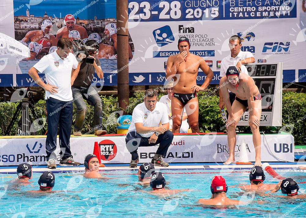 Team Usa<br /> Serbia SRB - United States USA<br /> day 01 - 23/06/2015<br /> FINA Water Polo World League Superfinal Men<br /> Bergamo (ITA) 23-28 June 2015<br /> Photo G.Scala/Deepbluemedia
