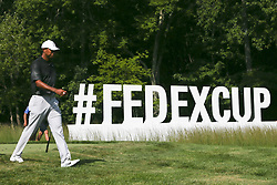 September 2, 2018 - Norton, Massachusetts, United States - Tiger Woods walks off the 16th tee during the third round of the Dell Technologies Championship. (Credit Image: © Debby Wong/ZUMA Wire)