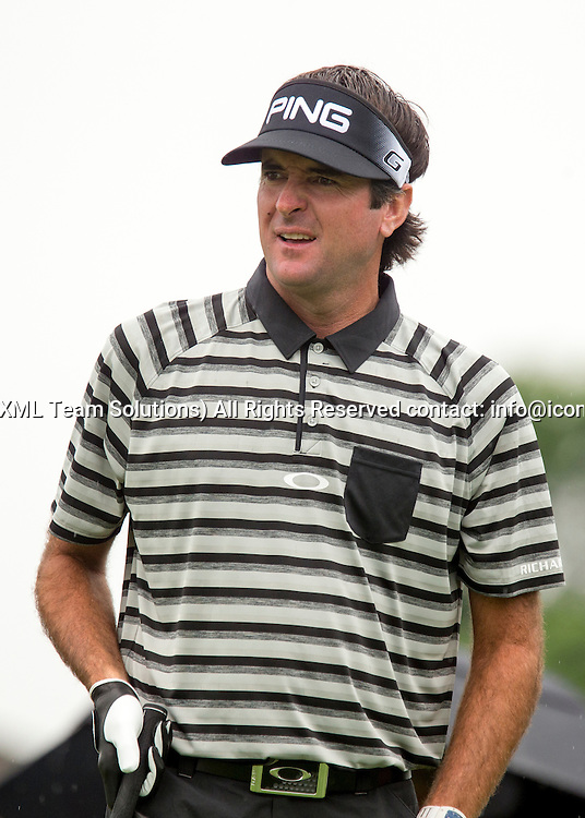 June 04 2016:  Dublin, OH, USA: Bubba Watson reacts to his drive during the Third Round of the Memorial Tournament presented by Nationwide at the Muirfield Village Golf Club. (Photo by Jason Mowry/Icon Sportwire)